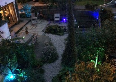 Colour-changing-garden-lighting,-Newton-bbot