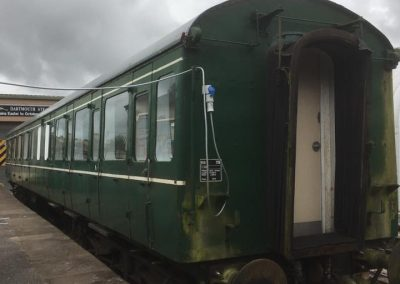 Converting a railway carriage to office workshop space, Dartmouth Steam Railway