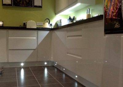 Kitchen lighting, Newton Abbot